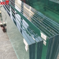 China 19mm+19mm clear tempered SGP laminated glass, 40.67mm clear tempered SGP laminated glass produce by KXG glass factory factory