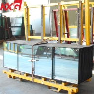 China 6mm+12A+6mm clear toughened double glazed glass, safety tempered insulated glass units factory