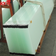 CE certification 10mm Acid Etched tempered glass factory China