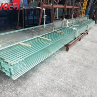 China China 10.76mm jumbo size safety laminated glass factory,high quality 552 clear toughened PVB laminated glass factory