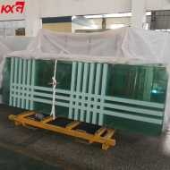 China 12mm Silk screen printing tempered glass door, 12mm safety frameless tempered door exporters