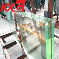 China Manufacturer KunXing Glass factory supply multilayer laminated safety glass cut to size
