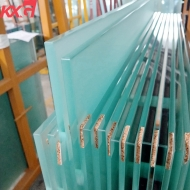 China building glass factory 10mm acid etched safety tempered glass, toughened frosted glass manufacturer