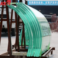 China China building glass factory 21.52mm extra clear curve tempered laminated glass, extra clear 10104 bend safety toughened building glass factory
