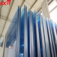 China China factory 11.52 mm ford blue tinted laminated glass, safety toughened color laminated glass factory