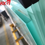 China frosted tempered glass 5 mm to 19 mm acid etched obscure toughened safety glass factory