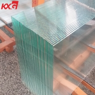 China China professional KXG building glass factory produce 5mm extra clear toughened glass, 5mm low iron tempered safety glass factory
