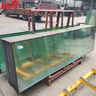 China professional building glass produce flat and curved safety 10mm-12A-10mm tempered insulated glass