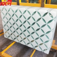China China silk screen printing ceramic frit color painted tempered glass m2 price factory