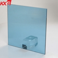 Decorative glass 5mm ford blue tinted reflective coated glass factory