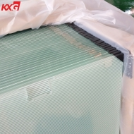 Factory price 10mm Acid Etched printing tempered glass, 10mm frosted printing safety tempered glass supplier China