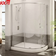 Factory price decorative frameless curved tempered glass wall for shower,home bathroom glass wall panel
