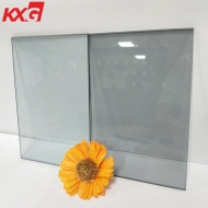 Furniture decorative glass 5mm 6mm dark gray black color tempered hardened glass factory suppliers