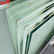KXG factory price custom size 13.52mm 17.52mm 21.52 frosted opaque translucent tempered laminated glass 664 884 price