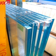 China Security building glass 25.52mm tempered sgp laminated glass, toughened laminated safety glass with sgp film factory