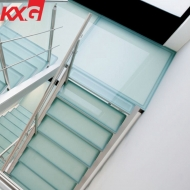 Ultra clear toughened glass balustrade fence staircase 11.52mm PVB SGP laminated glass