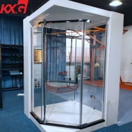 Wholesale prices 8mm tempered glass shower enclosure, 1-3 inch flat and curved safety shower glass factory